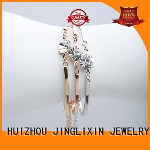 JINGLIXIN tricolor customize bracelets laser engraving for sale