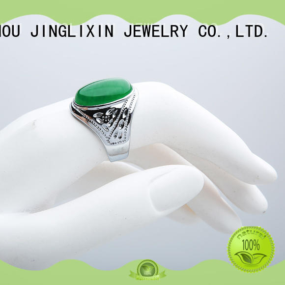 silver unique diamond rings r for male JINGLIXIN