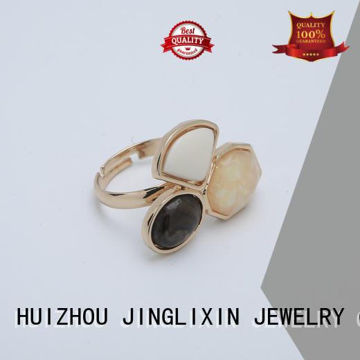 Custom resin wholesale fashion rings imitation JINGLIXIN