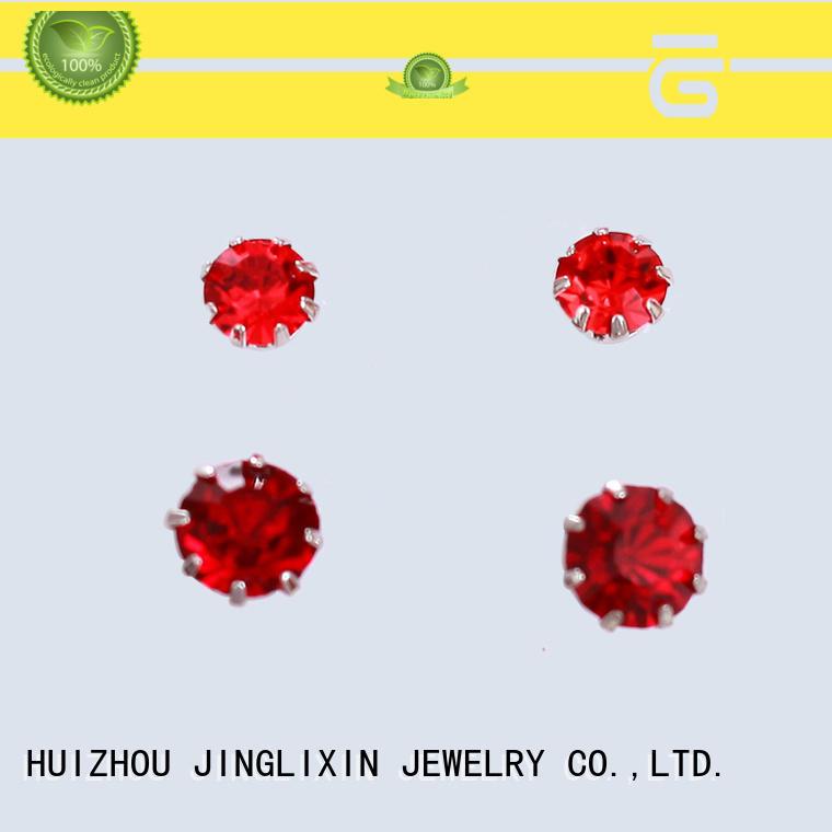 JINGLIXIN zircon flower earrings for concerts
