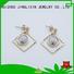 rhinestones earrings silver wholesale fashion earrings chain company