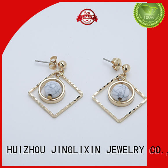 hot sale diamond drop earrings odm service for ladies JINGLIXIN