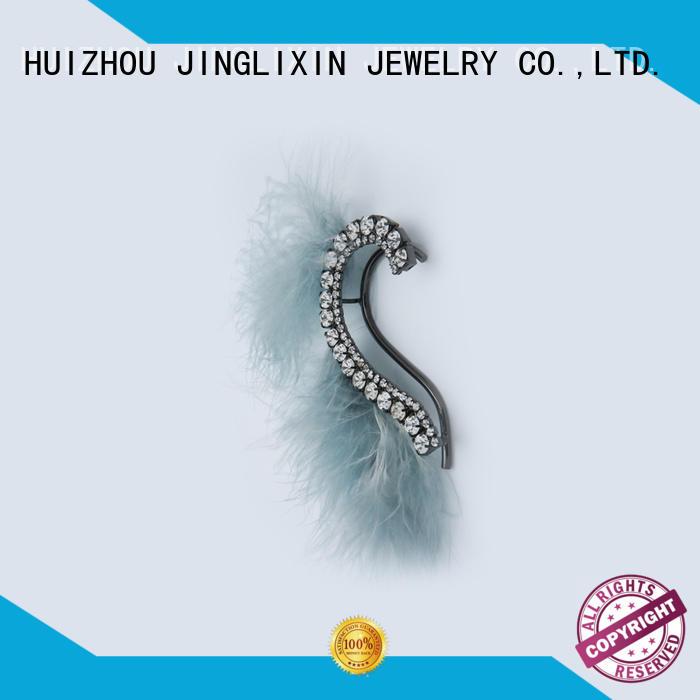 JINGLIXIN Brand abs goldplated wholesale fashion earrings silver factory