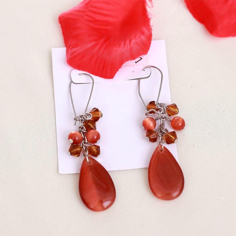 Custom white steel plated resin earrings