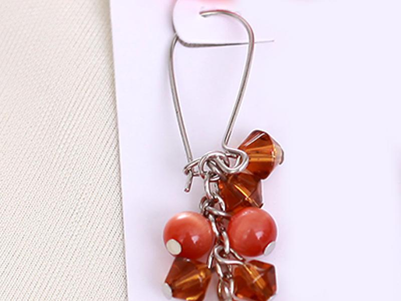 Custom silver wholesale fashion earrings crylic JINGLIXIN