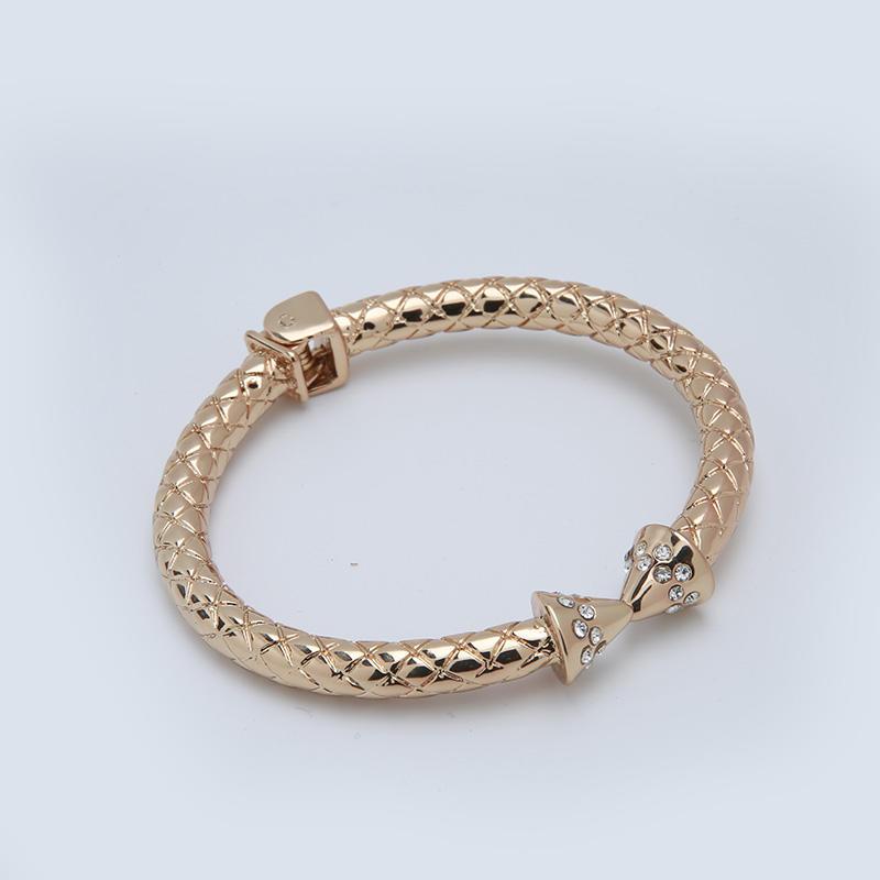 Custom czech rhinestones zinc alloy bracelet