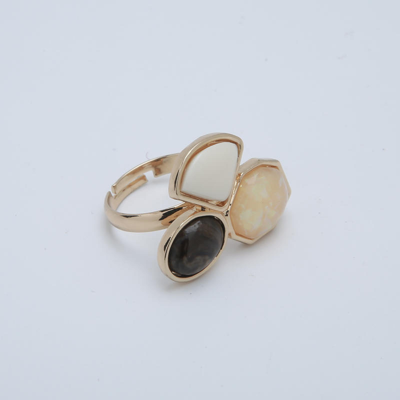 Fashion Imitation gemstone resin ring