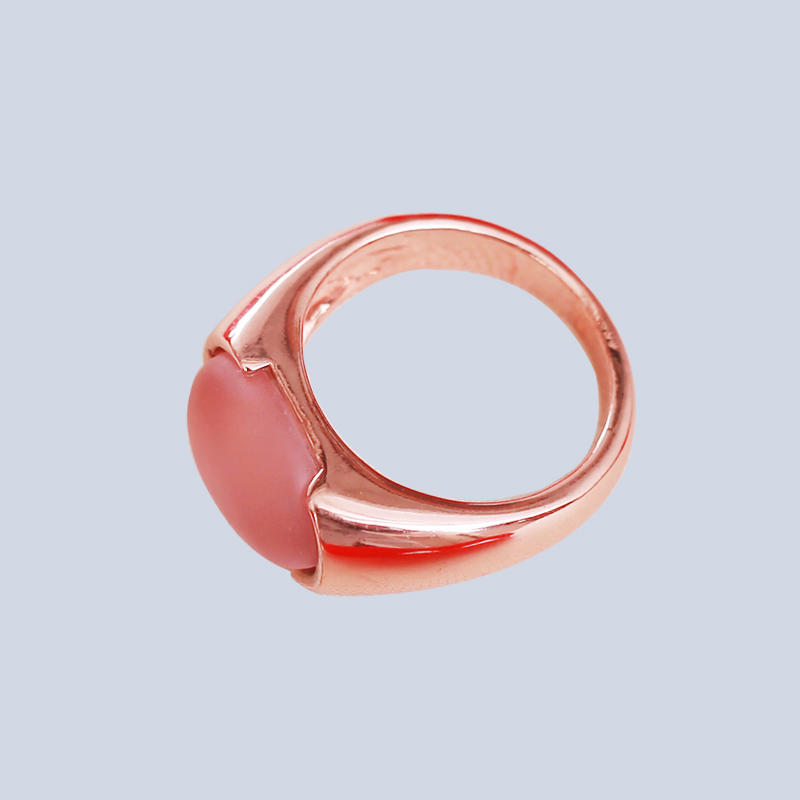 Custom rose gold resin ring R-154521