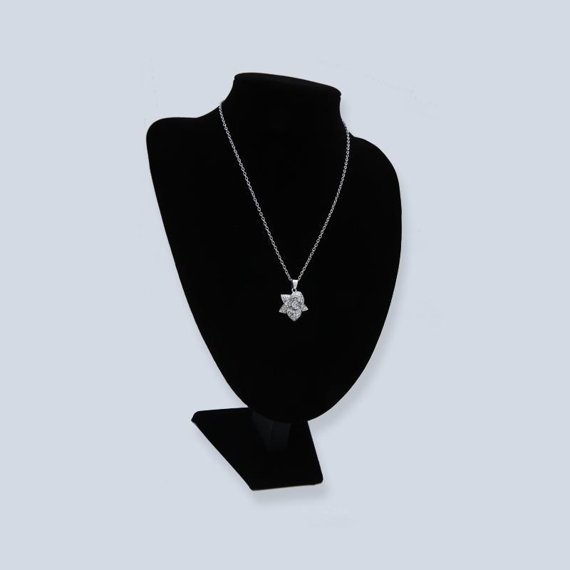 White k plated Swarovski Diamond Necklace
