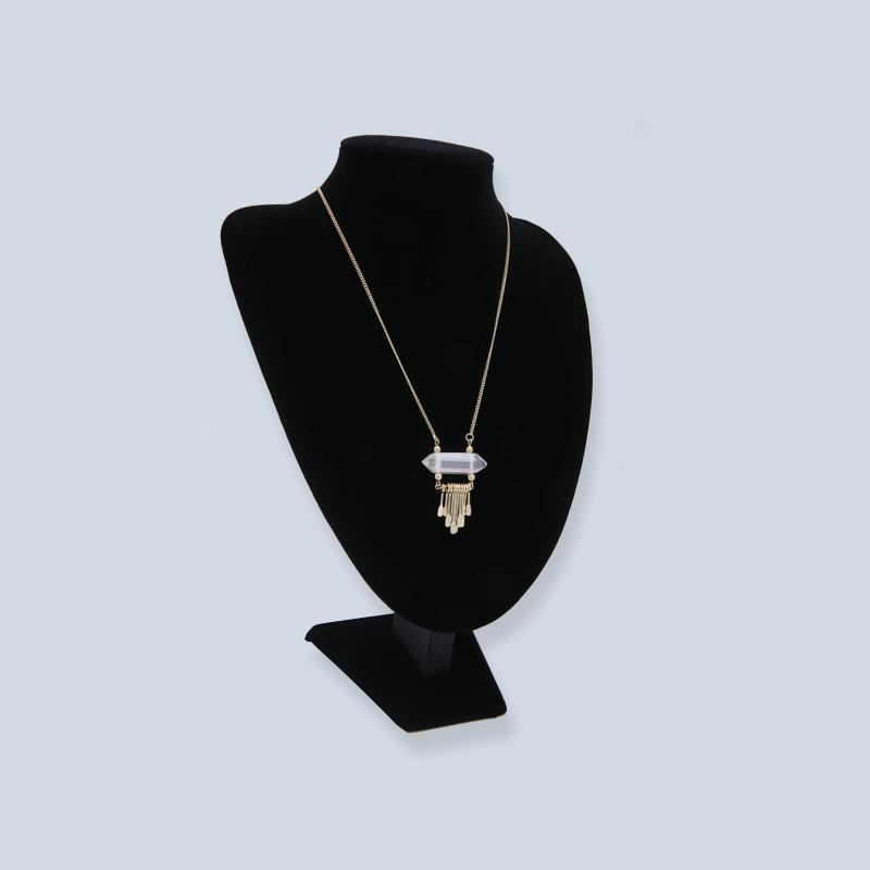 Custom gold plated Semi-precious stone necklace