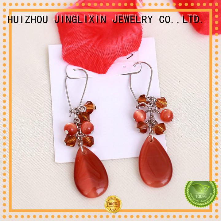 earring mattebeads goldplated JINGLIXIN Brand wholesale fashion earrings supplier