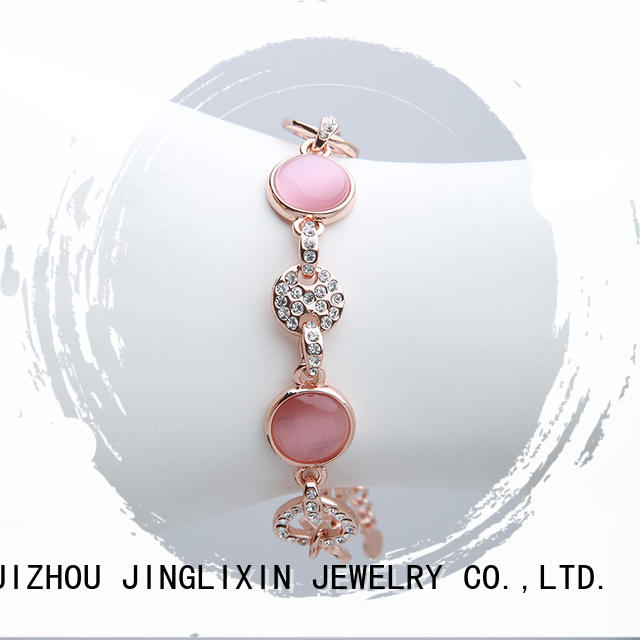JINGLIXIN best custom jewelry bracelets laser engraving for ladies