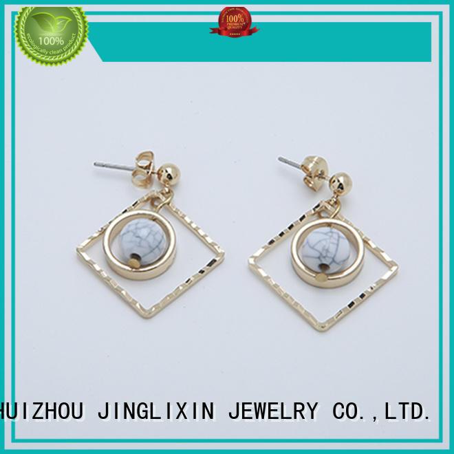 rhinestones earrings feather fashion rhinestones JINGLIXIN Brand wholesale fashion earrings