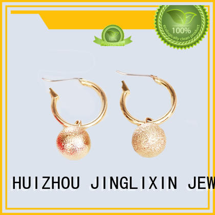 Custom shrimp-shaped mattebeads gold plated earring