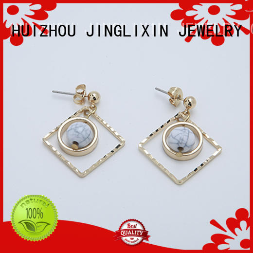 accessorize pearl earrings oem service for party JINGLIXIN
