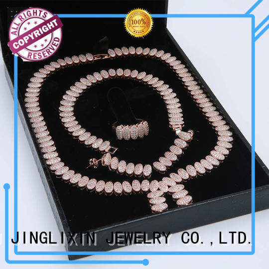 plated evening jewelry sets laser engraving for present JINGLIXIN