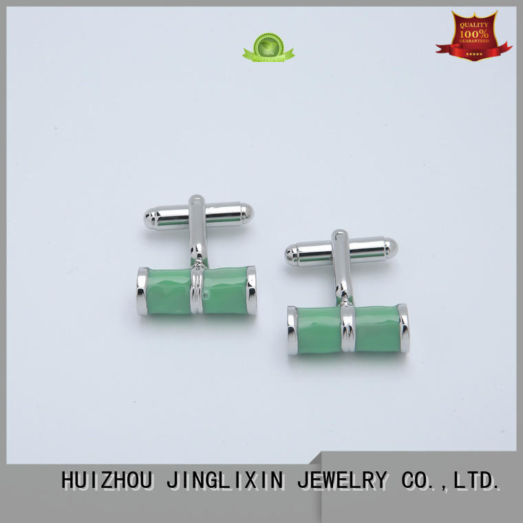 simple bling keychain steel plated cufflinks for ladies