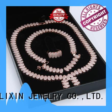 bridal jewelry sets stone for sale JINGLIXIN