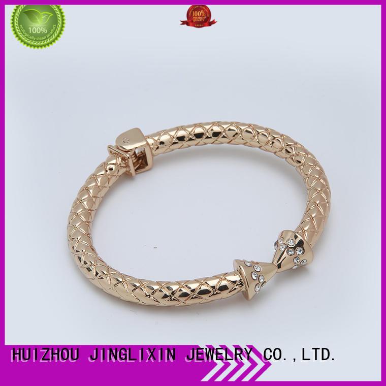 JINGLIXIN czech diamond custom metal bracelets kids for ladies