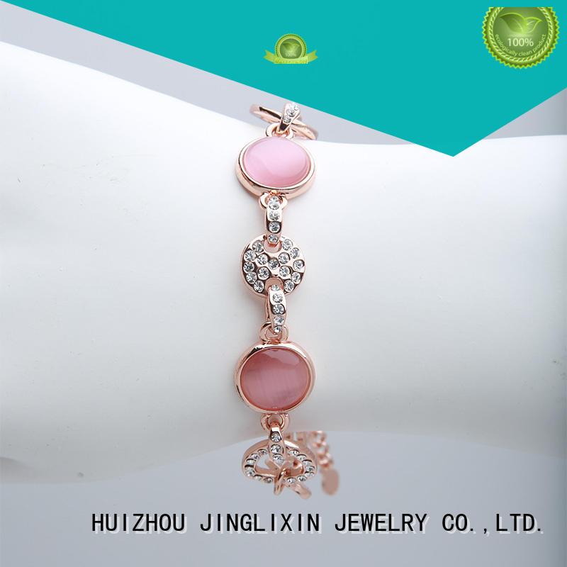 JINGLIXIN rhinestone customized couple bracelets wrist for party