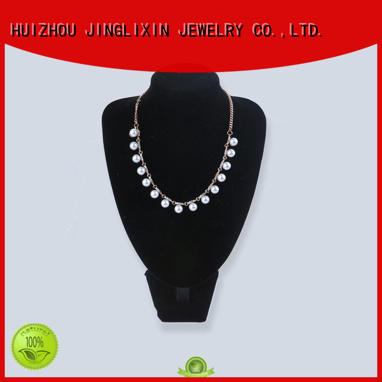 rhinestones necklace customized white Bulk Buy beads JINGLIXIN