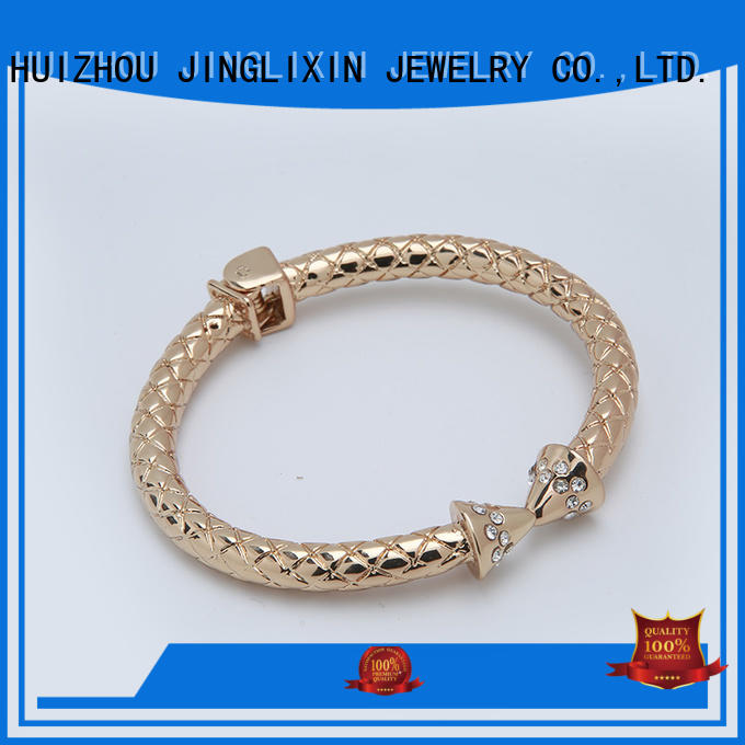 custom metal bracelets wrist for ladies JINGLIXIN
