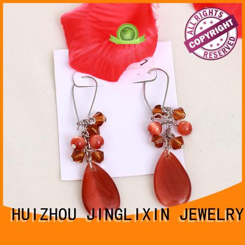 JINGLIXIN claw crystal earrings oem service for women