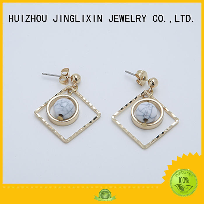 accessorize pearl earrings for present JINGLIXIN