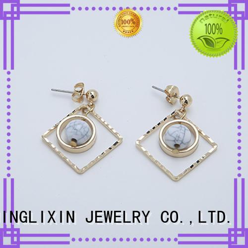 JINGLIXIN diamond amethyst earrings earrings earrings
