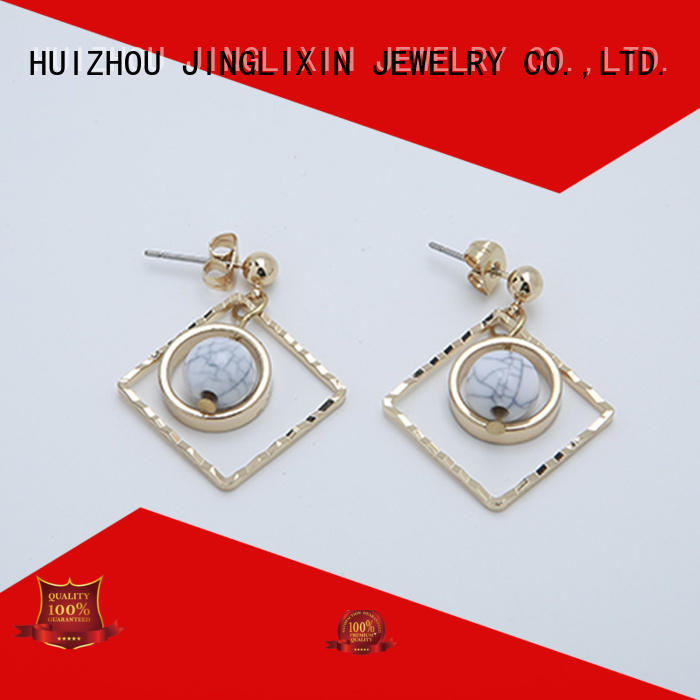 JINGLIXIN plated design earrings oem service for ladies