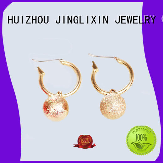 JINGLIXIN plated gold drop earrings oem service for ladies