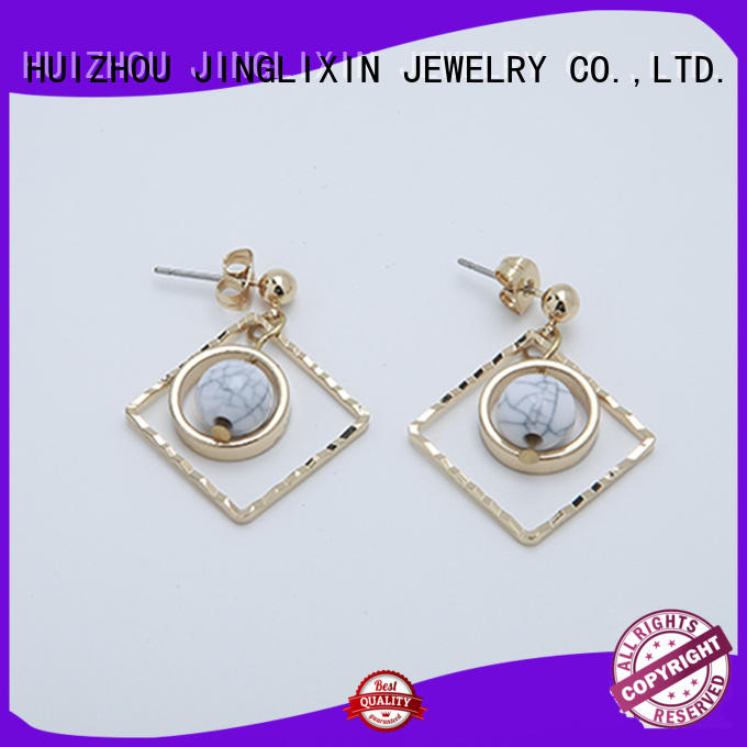 JINGLIXIN chandelier stud earrings for women laser engraving for ladies