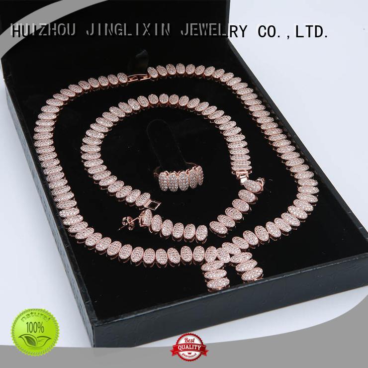 JINGLIXIN gold white gold jewelry sets manufacturer in beautiful gift box