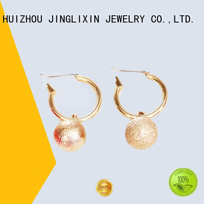 gold earring abs rhinestones earrings JINGLIXIN manufacture