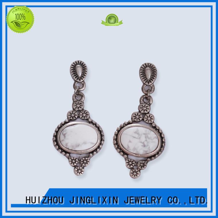 pearl earrings stud resin for ladies JINGLIXIN