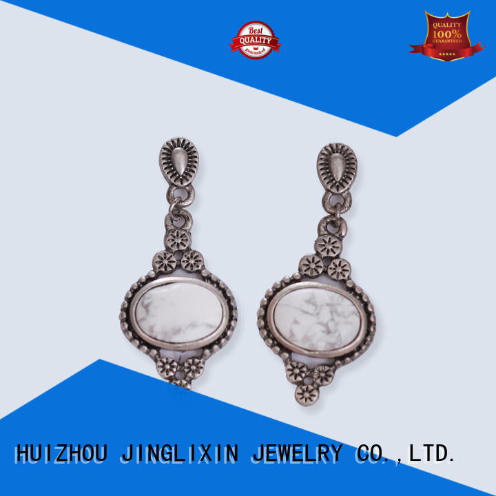 JINGLIXIN silver ladies earrings resin for women