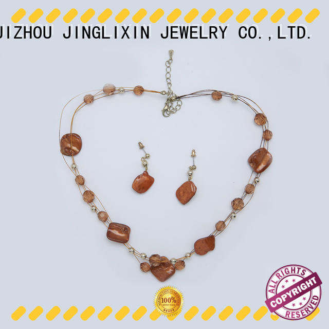 rhinestone jewelry sets stone in beautiful gift box JINGLIXIN