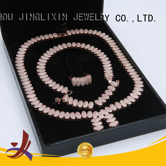 rose zircon wholesale jewelry sets gold JINGLIXIN Brand company