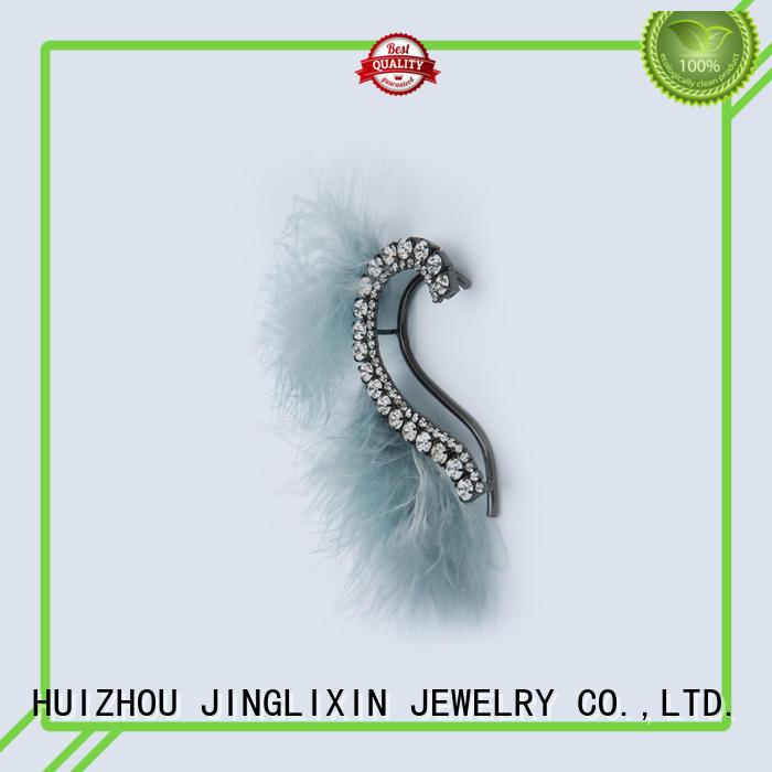 JINGLIXIN Brand zinc rhinestones zircon custom rhinestones earrings