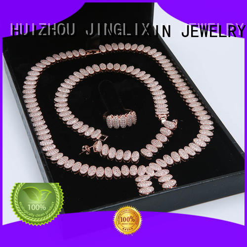 rhinestone jewelry sets in beautiful gift box JINGLIXIN