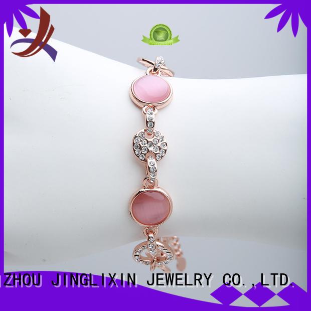 JINGLIXIN Brand rose zinc rhinestones bracelet wholesale bracelets