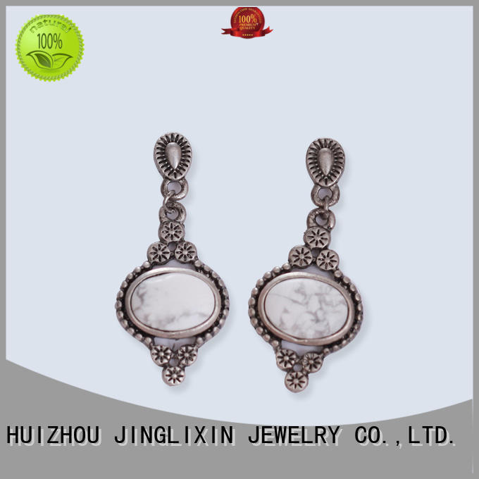 JINGLIXIN mattebeads custom earrings laser engraving for ladies
