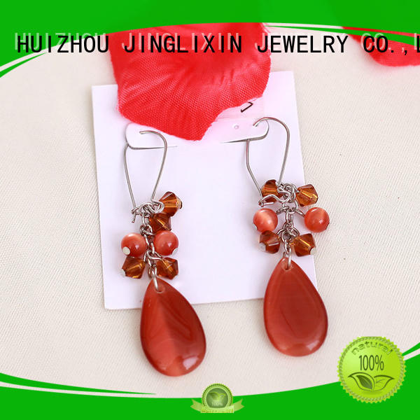 diamond rhinestones earrings chain JINGLIXIN company