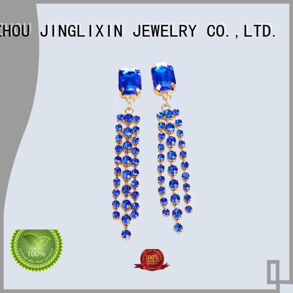 rhinestones earrings claw JINGLIXIN Brand wholesale fashion earrings