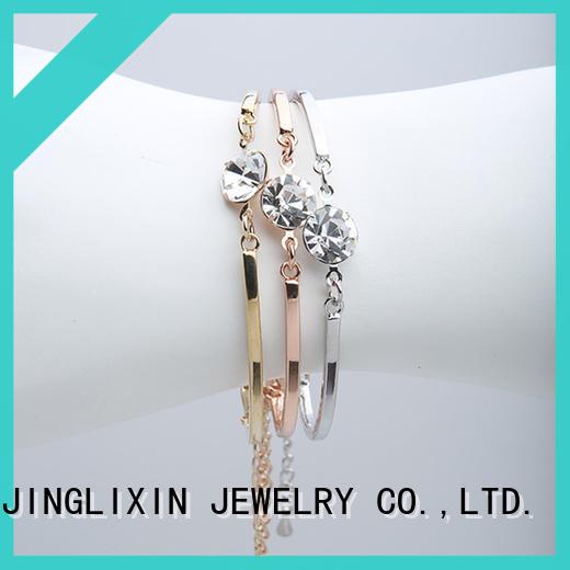 JINGLIXIN alloy custom bracelet laser engraving for sale