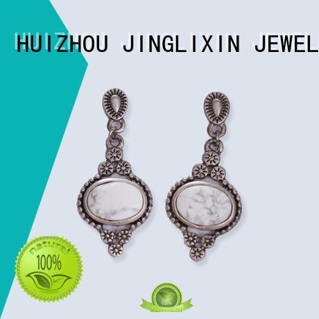 rhinestones earrings plated earrings JINGLIXIN Brand wholesale fashion earrings