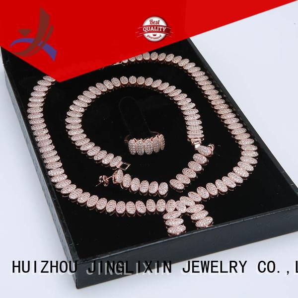 rhinestone jewelry sets gold jewelry wholesale jewelry sets JINGLIXIN Brand