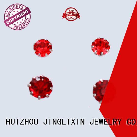 plated diamond drop earrings with name for women JINGLIXIN