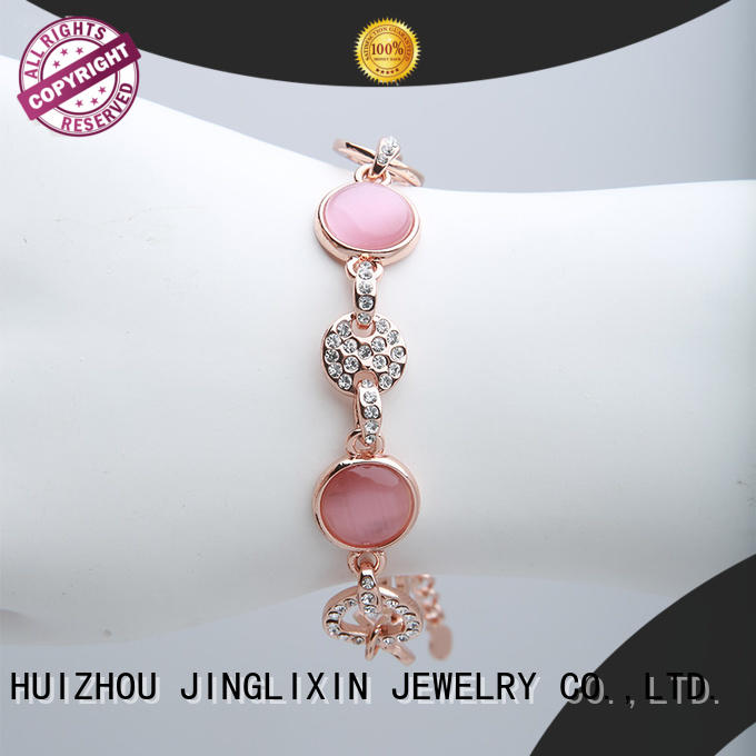JINGLIXIN czech rhinestones bracelet supplier manufacturer for sale