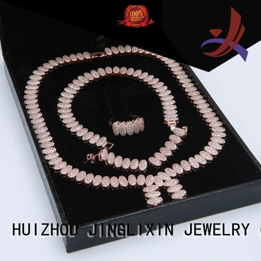JINGLIXIN Brand diamond hardware rose gold wholesale jewelry sets